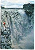 ICELAND - DETTIFOSS BIGGEST WATERFALL IN EUROPE / WITH EUROPA CEPT 1975 STAMP - Islanda