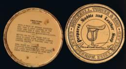 """Italia Scatola In Metallo Vuota Antica Per Pulire Selle E Cuoi  """"BRECKNELL, TURNER & SONS"""" Great Dunmow, Essex, England - Boîtes"""