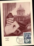 N°971 SUR CARTE POSTALE  / METIERS D'ART / 1er JOUR DU 6.05.1954  _  PARIS - Cartes-Maximum