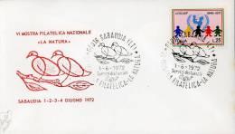 SABAUDIA VI MOSTRA FILATELIA 1972 ANN SPEC - Esposizioni Filateliche