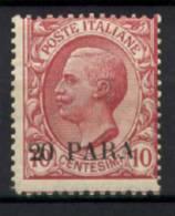 Costantinopoli 1908 Sass.9 */MLH VF/F - Bureaux D'Europe & D'Asie