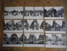 Lot 9 CPA Stéréoscopique PARIS (75) - Lots, Séries, Collections