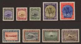 """Greenland - Scott # 10-18 VF MH*  """"the American Issue"""" - Groenland"""