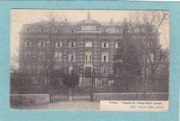 VIRTON.  -  Façade Du Collège Saint Joseph.  -  1919  -  ( Timbre Enlevé ) - Virton