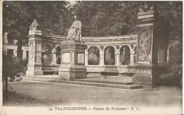 CARTE POSTALE PHOTO ORIGINALE ANCIENNE : VALENCIENNES ; LA STATUE DE FROISSART ; NORD (59) - Valenciennes