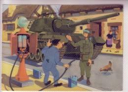 CHAR Militaire Soldat  Carte Postale Humoristique Illustrateur J.MAEZELLE - Humor