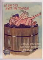 VENDANGE VIN PRESSOIR AMOUR Carte Postale Humoristique - Humor