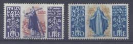 ITALIE -1948 -  6ème CENTENAIRE DE LA NAISSANCE DE STe CATHERINE DE SIENNE -  POSTE AERIENNE  N° 129 ET 130  - X - TB  - - Correo Aéreo