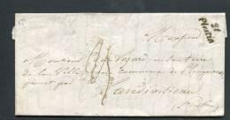 =*= Cursive Plestin Sur Lettre Avec Correspondance>>>>Plougou Rvest Par Landivisiau  1850  =*= - Marcofilia (sobres)