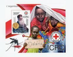 Henri Dunan-Croix Rouge-malaria-Centrafriqu E-Bloc***MNH