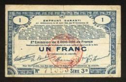 MONNAIE BILLET BON COMMUNAL EMPRUNT GARANTI 70 COMMUNES 80, 62, 59... 1 FRANC - N° 71553 -SOMME, PAS DE CALAIS, NORD... - Bonds & Basic Needs