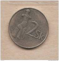 Slovacchia - Moneta Circolata Da 2 Corone - 1994 - Slovacchia