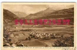 74 - PASSY -  VUE Sur Le FAYET - CHAMP D'AVIATION Et MONT JOLY -  ST GERVAIS - Passy