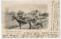Gruss Aus Rustchuk WASSERTRÄGER Souvenir De ROUSTCHOUK Vendeur D'eau WATER SELLER Sent To France 1901 - Bulgarien