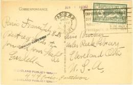 France Type Merson #143 CP Pour Les USA 1925 - 1921-1960: Periodo Moderno