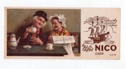 Nov12    57894   Caen   Buvard Pub Les Cafés Nico - Buvards, Protège-cahiers Illustrés