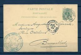 Nr 45 Op Carte Postale  Rousbrugge-Haringhe Naar Bruxelles 12/01/1892 - NIPA 150 Fr (GA5488) - AK [1871-09]