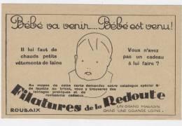 Filatures De La Redoute  - Bébé Va Venir...Bébé Est Venu !     /1243 - Reclame