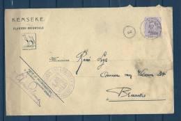 Nr 140 Op Brief Van Kemseke Naar Bruxelles 11/12/1920 - Sterstempel (GA5664) - 1915-1920 Albert I