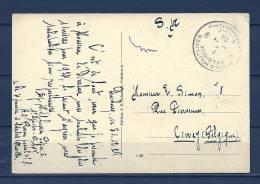 Postkaart Naar Ciney - Legerposterij/Postes Militaires - 31/12/1924 (GA5687) - Brieven En Documenten