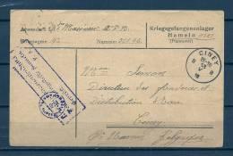 Feldpostkarte Naar Ciney -13/05/1918 - Kriegsgefangenensendung (GA5700) - Oorlog 14-18
