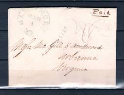 Voorloper Van Baltimore Naar Virginia 04/03/1844 (GA6684) - Postzegels