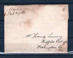 Voorloper Van Montensville Naar Washington 23/02/1848 (GA6685) - Timbres