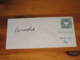 Cover Brief  Peru Postal Stationery Ganzsache  5 Centavos 30. November 1934 Ib Unused ** Ungebraucht - Peru