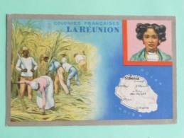 Colonies FRANCAISES - La REUNION - Edition Spéciale Des Produits De LION NOIR - Geographical Maps