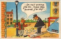 """Jean DE PREISSAC """"on Voit Quand J´ai Bu, Mais Pas Quand J´ai Soif"""" Gendarme - Ivrogne - Chiens - Café - Humor"""