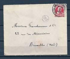 Nr 74 Op Brief Van Arlon-Bruxelles Naar Bruxelles (Nord) 05/10/1911 - NIPA 150 Fr Ambulant (GA5394) - 1905 Thick Beard