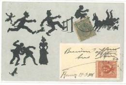 3690 SILUETTE 1904 VIAGGIATA Il Francobollo Da 5c Non è Incollato - Siluette