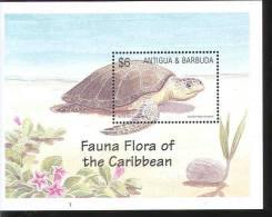 Antigua And Barbuda -  S/S, MNH - Schildkröten