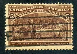 United States 1893 Scott # 234 Used - Usati