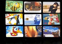 LOT Collection De 120 Télécartes FRANCE C.1990 Publicités & Séries France Telecom Loto Sncf Cinéma Tour Cycliste +++ - Francia