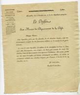 Belgique, Bruxelles, Dyle,an 10,préfet, Maires, Ecclésiastiques , Exemptés De La Conscription Militaire, Doulcet - Historische Dokumente