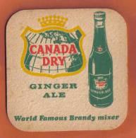 MALTA - CANADA DRY GINGER ALE  VINTAGE MATT - - Beer Mats