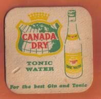 MALTA - CANADA DRY TONIC WATER VINTAGE MATT - - Beer Mats