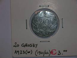 Polonia 20 Groszy 1923 Zinc  (4463) - Polonia