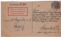Lapoutroie  Formulaire Allemand 1913 L - Marcofilia (sobres)