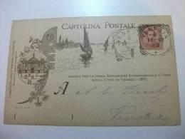 Cartolina Postale Emessa Per La Prima Esposizione Internazionale D'arte Della Città Di Venezia 1895 - Venezia