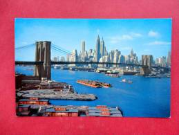 Brooklyn Bridge   Early Chrome-- New York > New York City  --  ----  Ref  --- 744 - Sin Clasificación