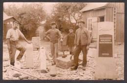 SN80A) Gravestone Carvers - Landtbrukaren J.A. Nilsson - 1919 - Real Photo Postcard - Sweden