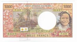 """Polynésie Française / Tahiti - 1000 FCFP / P.049 / 2012 / """"Nouvelles Signatures"""" - Neuf / Jamais Circulé - Papeete (Polynésie Française 1914-1985)"""