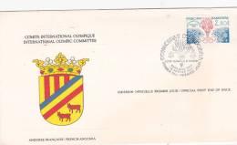 Andorra French 1984 Sarajevo Winter Olympics Souvenir Card - French Andorra