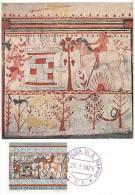 D09505 CARTE MAXIMUM CARD 1975 SAN MARINO - ETRUSCIAN ART - ACHILLES CP ORIGINAL - Altri