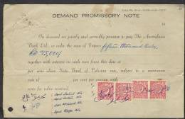DEMAND PROMISSORY NOTE FROM AUSTRALASIA BANK LTD. PAKISTAN With 15 Paisa Revenue Stamps- - Bank & Insurance