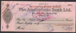 PAY ORDER OF AUSTRALASIA BANK KARACHI CITY PAKISTAN 1964 - Bank & Insurance
