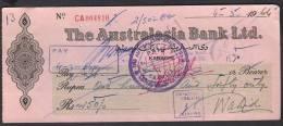 PAY ORDER OF AUSTRALASIA BANK KARACHI PAKISTAN 1964 - Bank & Insurance