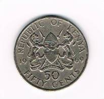KENYA  50  CENTS  1969 - Kenya